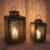 Hurricane brass gold copper metal lantern candle holder