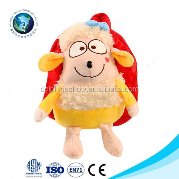 Baby Leisure Bags Children Plush Animal Head Cartoon Backpacks