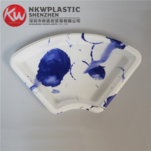 KW5-3101SY-BFan-shaped disposable transparent plastic cake container/sushi box