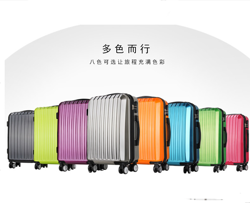 colourful travel trolley luggage bag/luggage cart