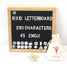 Wood Frame Changeable Felt Letter Board With290 Letters and Stands Made in China