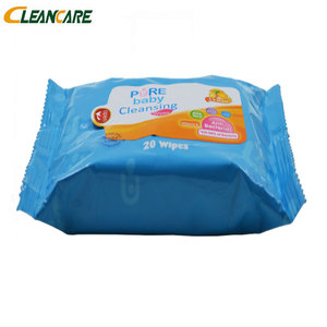 Refreshing OEM Tender Flushable Pure Water Free Sample Natural Baby Wet Wipes