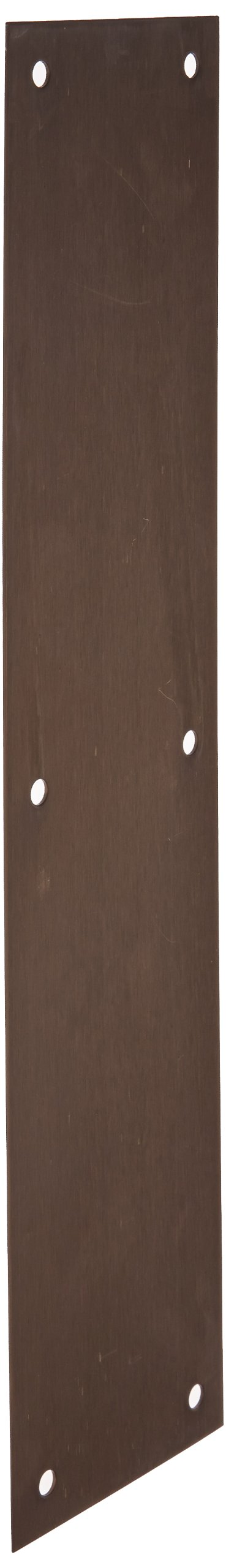Satin Oxidized Oil Rubbed Finish Rockwood 70B.10B Bronze Standard Push Plate 15 Height x 3-1//2 Width x 0.050 Thick Four Beveled Edges