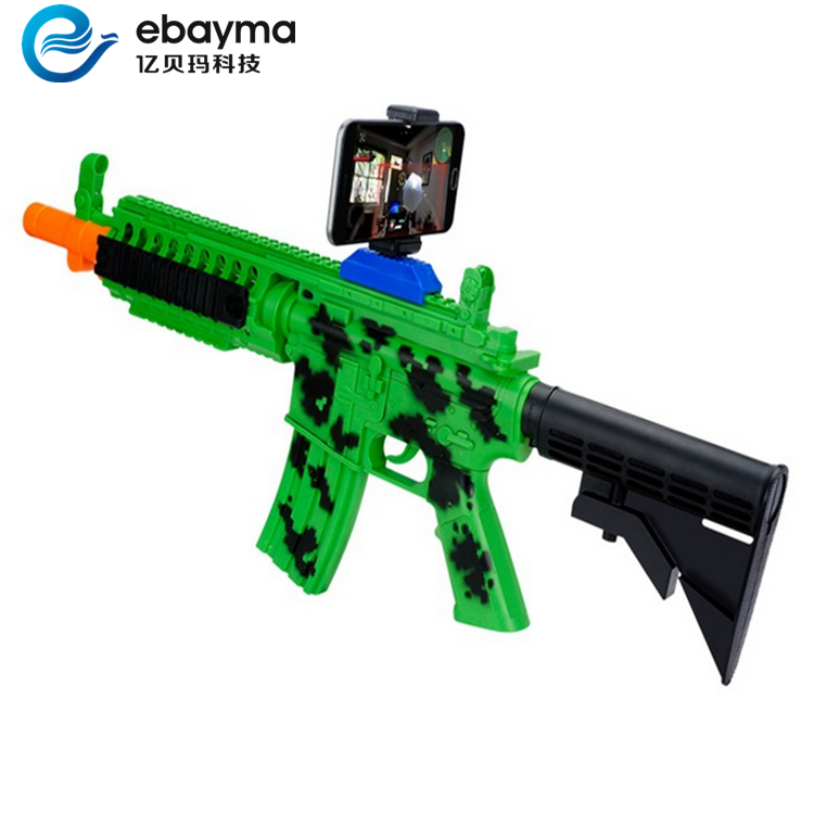 DIY Reality bluetooth wood AR Gun with Cell Phone Stand Holder Protable Virtual 3D Games crazy shooting kids toys