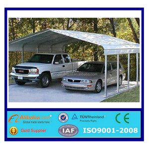 ISO certified high quality prefab sheet metal carport for cars