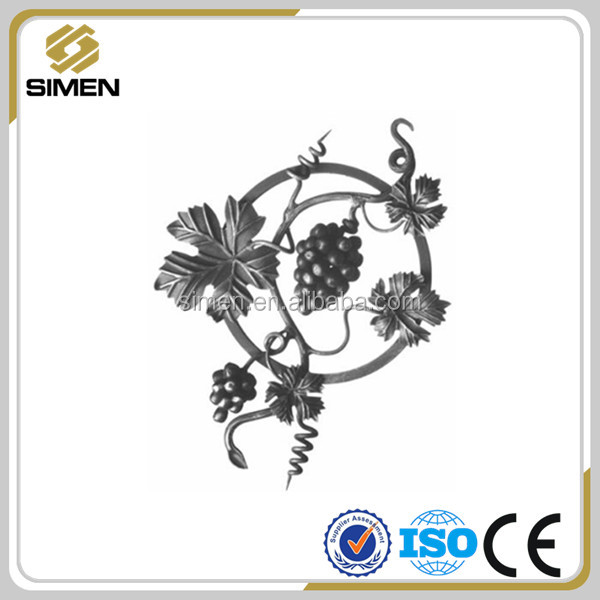 Ornamental wrought iron railing parts wrought iron grapes rosettes
