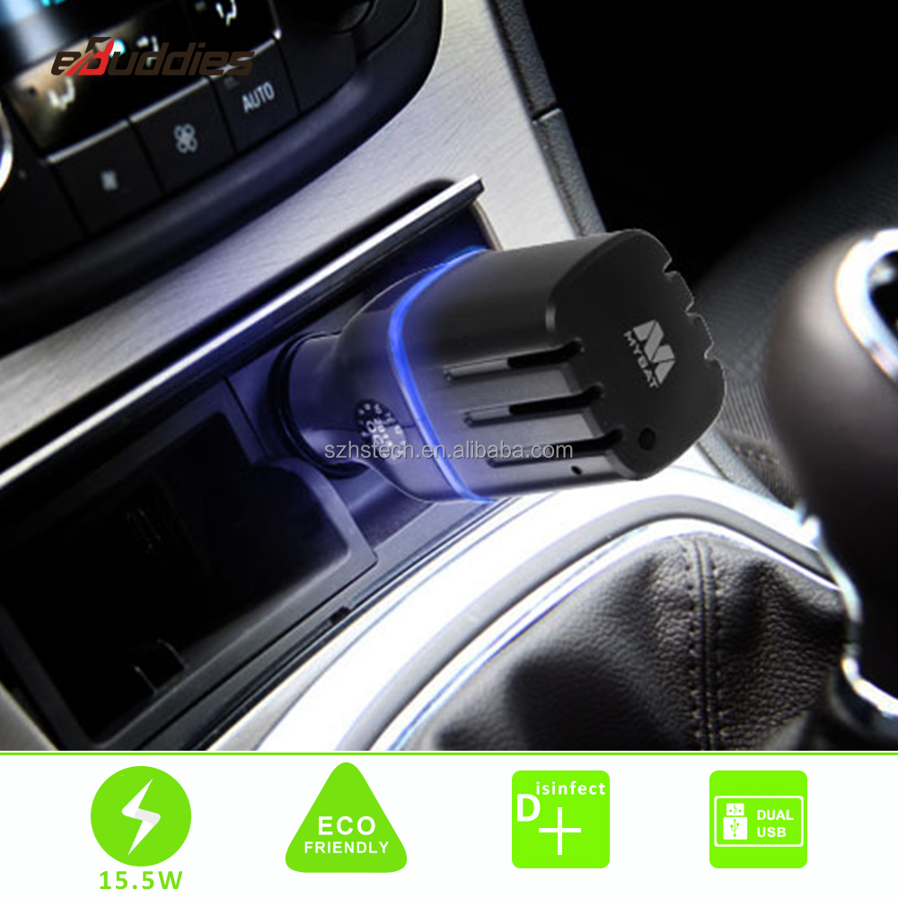 Small Car Air Purifier Remove Bad Smell Negative Ion Refreshing Air purifier with USB