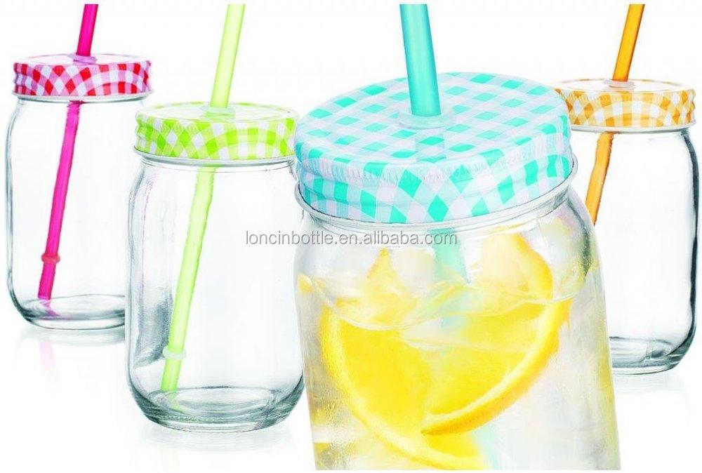 Double Wall Plastic Mason Drinking Jar Glasses Glass Mason
