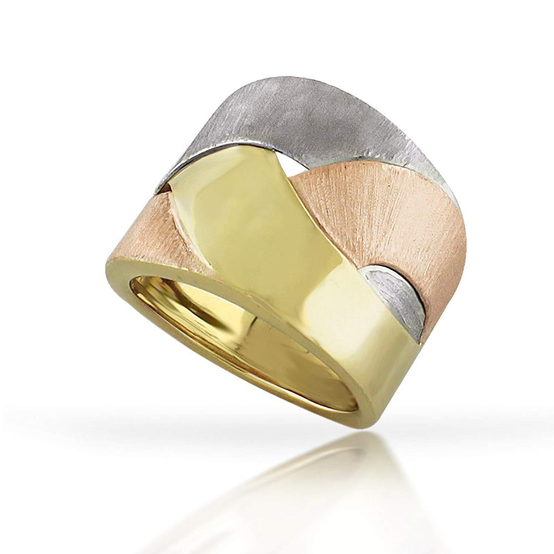 e14a75c0b5327 Buy 14K Tri Color Gold Braided French Braid Mens Wedding Band (7mm ...