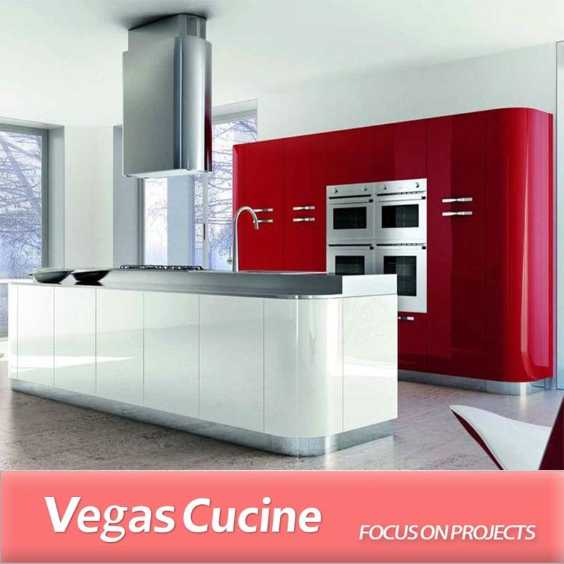 Kombinasi Warna Merah Dan Putih Rumah Dapur Kabinet Dengan U