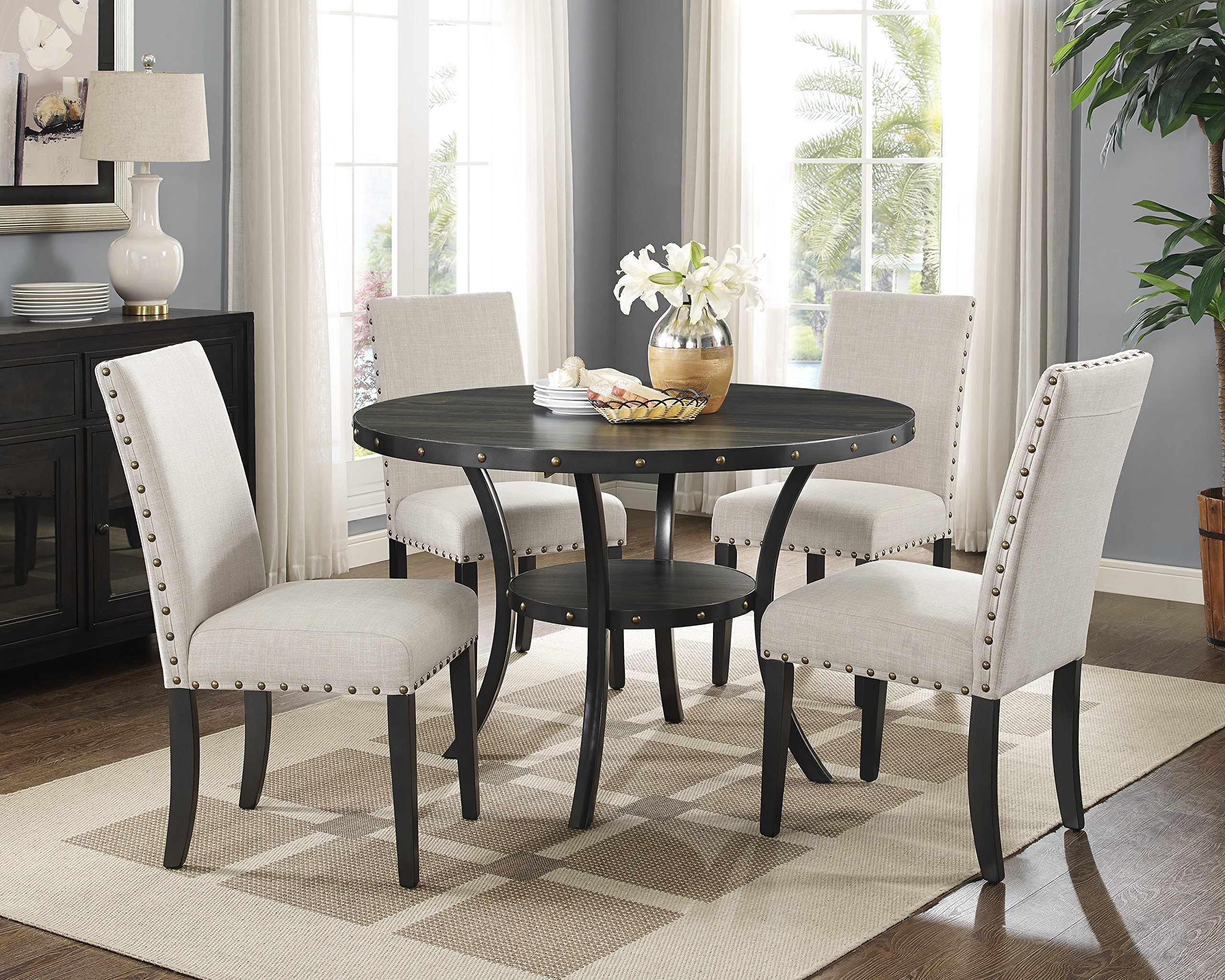Phenomenal Buy Roundhill Furniture Biony Tan Fabric Dining Chairs With Bralicious Painted Fabric Chair Ideas Braliciousco