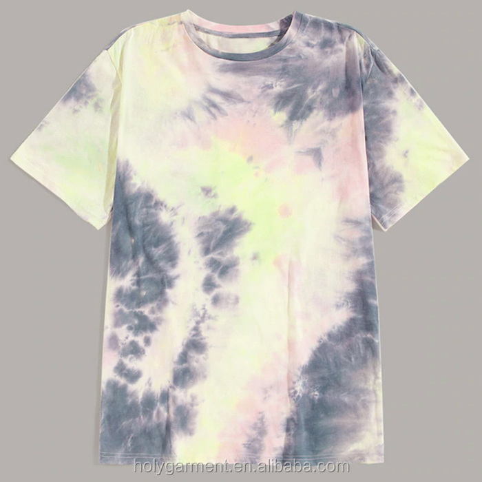 custom oem manufacturer wholesale tee shirt men drop shoulder tie dye short sleeves tshirts