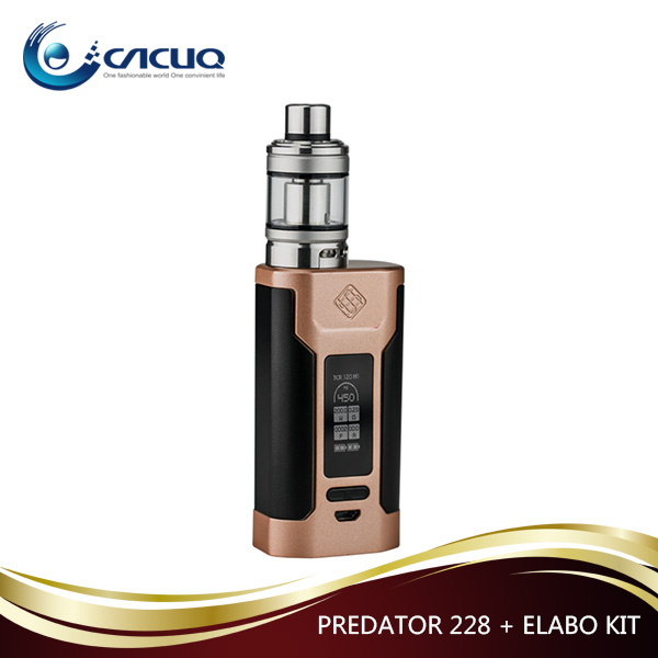 2017 Top Selling Wismec Predator 228+Elabo Kit with Attractive Prize