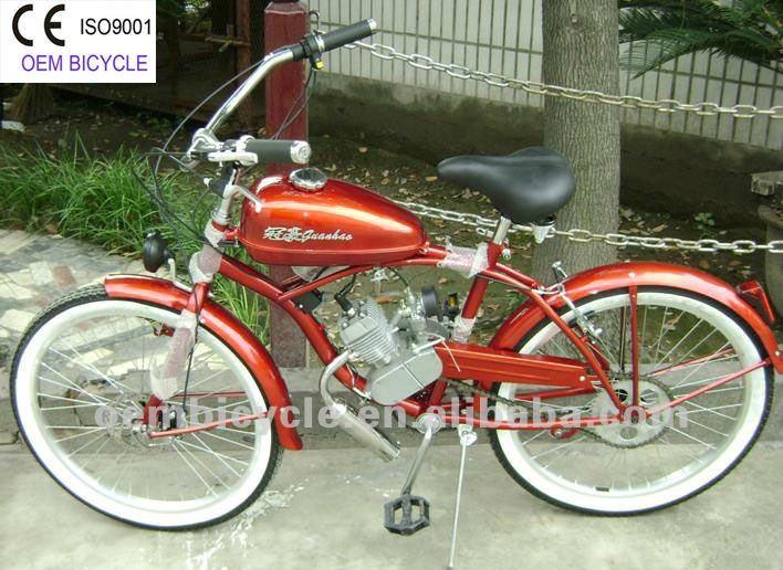 26 Inch Por 50cc Gas Engine Motor Chopper Bike