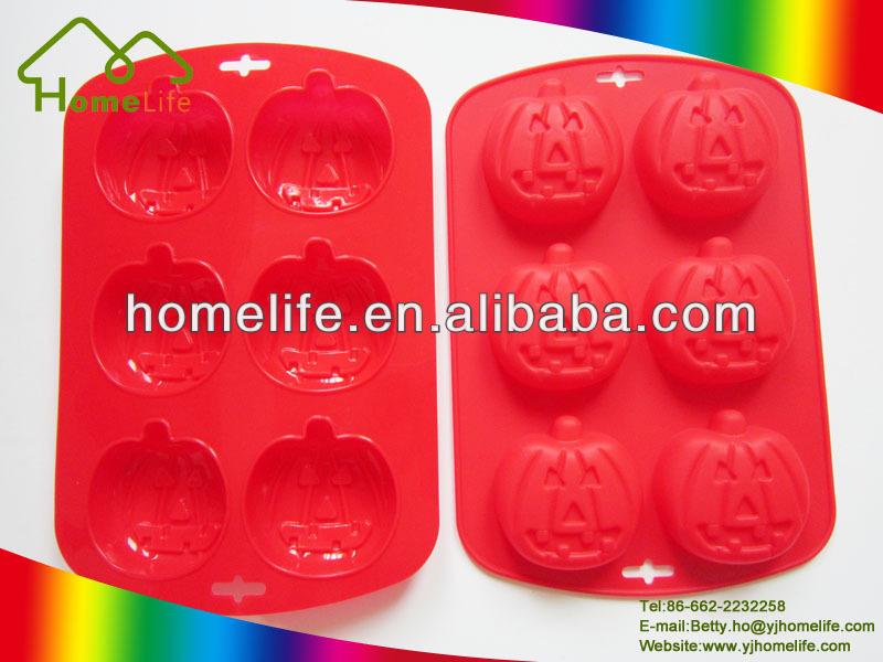 Bakeware tools Halloween Pumpkin Shaped funny Silicone cake mold