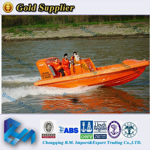 China Supply Good Quality CCS Fender Aluminum Rescue Boats For 9 Persons