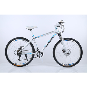 DIKESEN WarHawk spoke white and blue color Men Gender and Yes Fork Suspension road bike26 24 inch MTB
