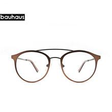 Женские очки, оправа для мужчин, Ретро стиль, двойной луч, очки для женщин, прозрачные линзы, очки унисекс, Ретро стиль, очки(Китай)