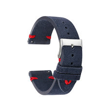 Ремешок для часов из замшевой кожи в стиле ретро, ремешок для часов из натуральной кожи 18 мм 20 мм 22 мм 24 мм, сменный ремешок для часов для мужч...(Китай)