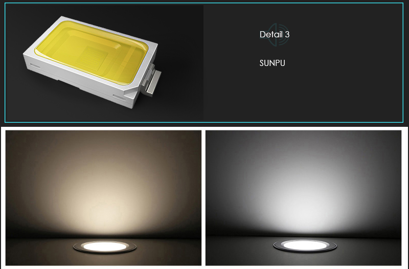 Integrated COB spot light, recessed down light, 7W 12W 24W