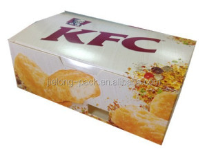Paper fried chicken box fast food packaging