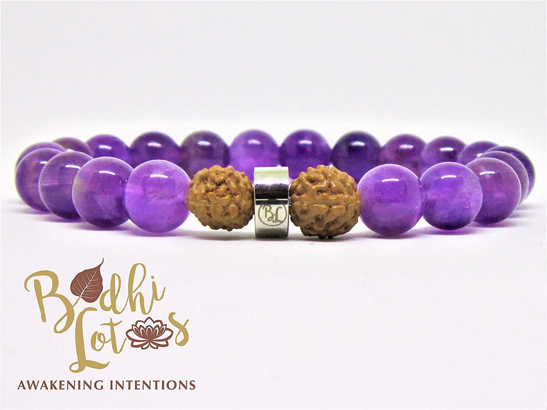 Genuine Amethyst Bracelet Amethyst Chakra Bracelet Purple Gemstone Yoga Bracelet Minimalist Bracelet Amethyst February Birthstone Bracelet
