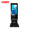 customized lcd advertising player with trash can