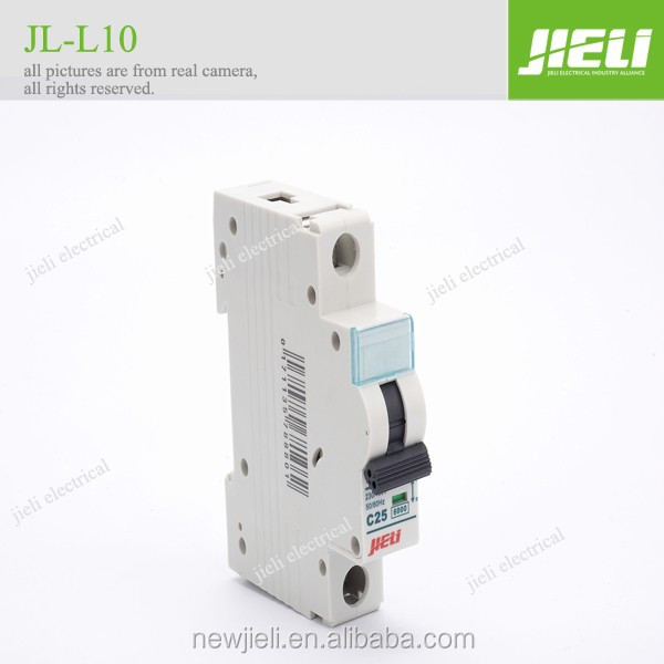 JIELI copper parts silver contact 63amp 4 poles double pole electrical miniature circuit breaker single pole 6ka mcb
