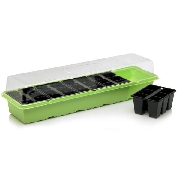 Propagator Windowsill Seed Tray Plug Trays Lid Plant