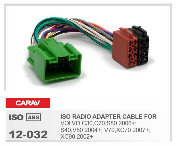 carav 12 032 iso radio plug for volvo c30 c70 s80 s40 v50. Black Bedroom Furniture Sets. Home Design Ideas