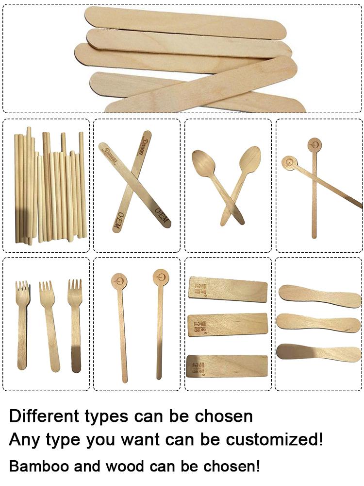 Natuurlijke kleur houten craft popsicle hout gedrukt ice cream sticks