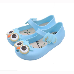 mini jelly shoes/cute owl design, mini kids shoes,jelly sandals