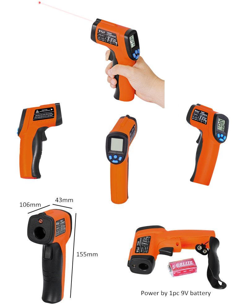 TM550 2017 Hot selling High-accuracy Non-contact Digital Infrared IR Thermometer