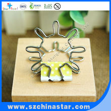 Yellow circle binder clips binder clip metal 2 ring