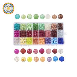 YWYS098 RDT Wish 720pcs European American Jewelry DIY Accessory 24 Colors Christmas Theme Glass Beads Charms Pendants with Hole