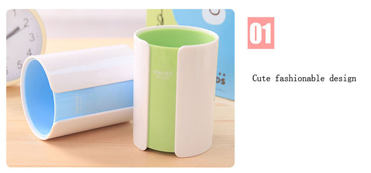 Creative multifunctional pvc single sublimation mdf pen holder