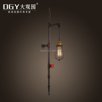 unique sconce decorative pipe electronic retro vintage led wall lamp