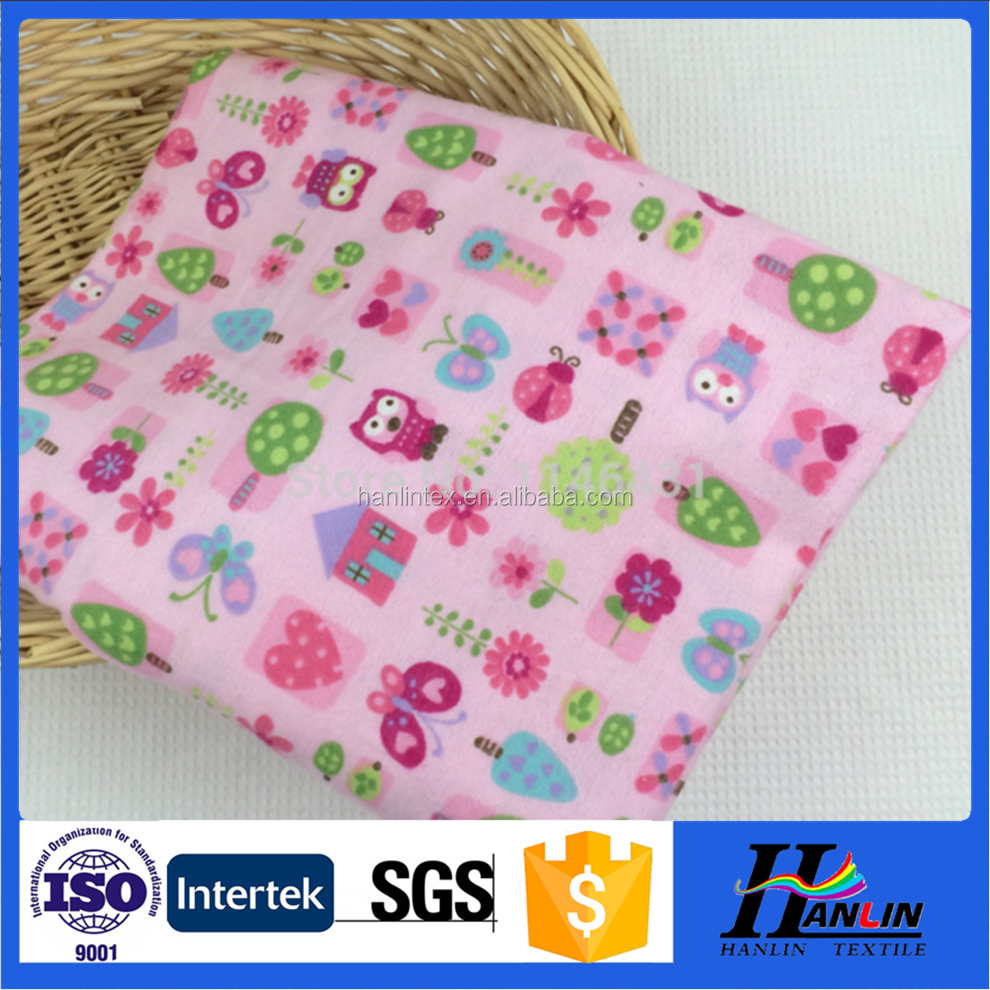 wholesale cotton flannel fabric for world/100 cotton babyprint flannel fabric for baby blankets