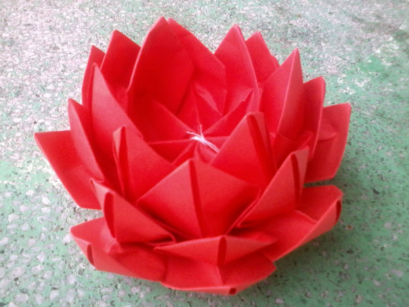 Red Origami Lotus Buy Origami Flowers Product On Alibaba Com