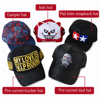 4c8e830374f175 flat curved brim 5 panel camper trucker baby snapback custom dad hat and cap