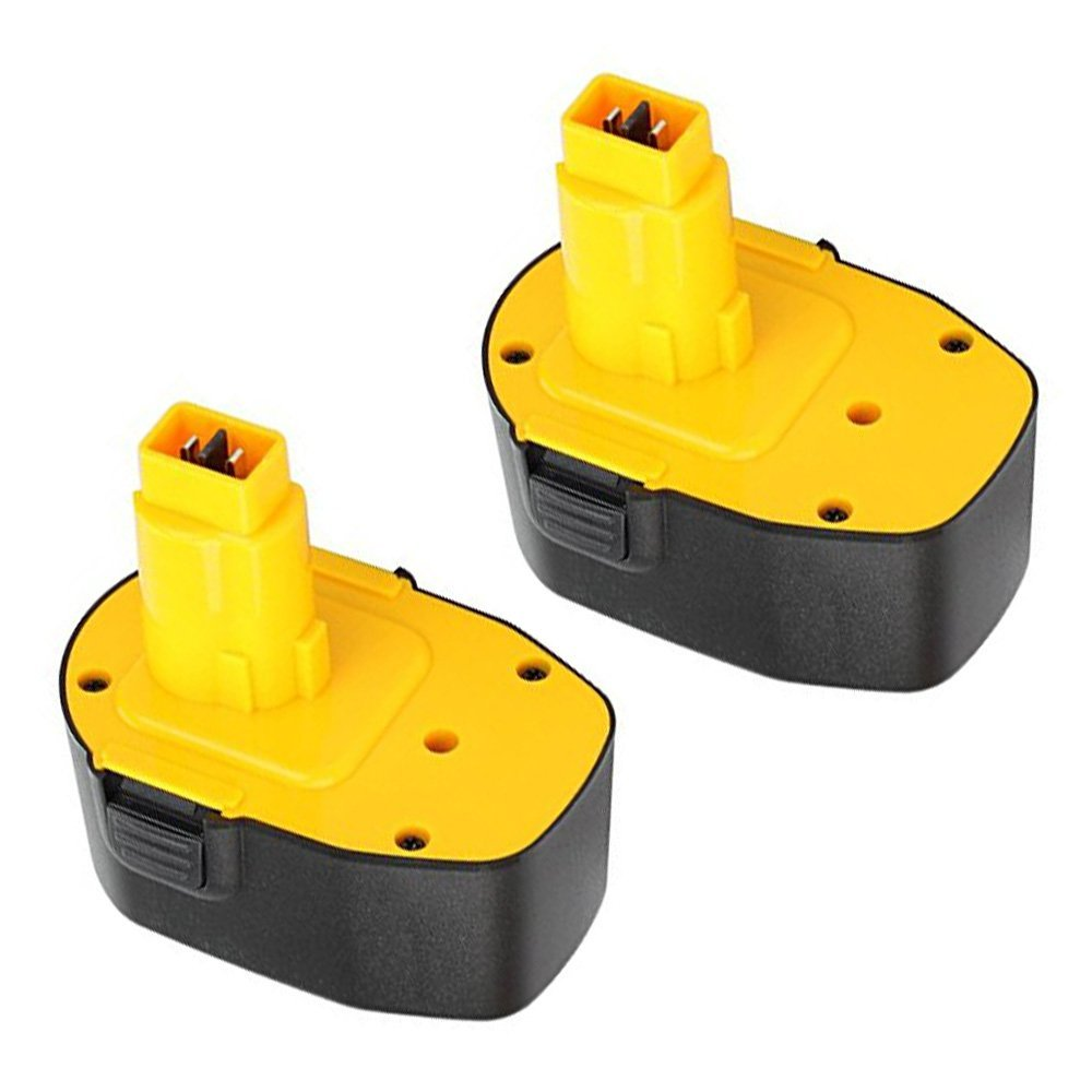 efluky 2Pack 3.0Ah 14.4V Power Tool Replacement Battery for Dewalt DC DW Series DC9091 DE9038 DE9091 DE9092 DE9094 DE9502 DW9091 DW9094 (black or yellow Random color))
