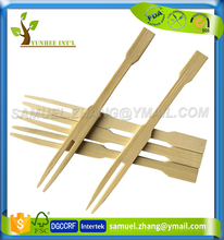 "90mm 3.5"" Disposable Mini Party Bamboo Cocktail Fruit Fork"