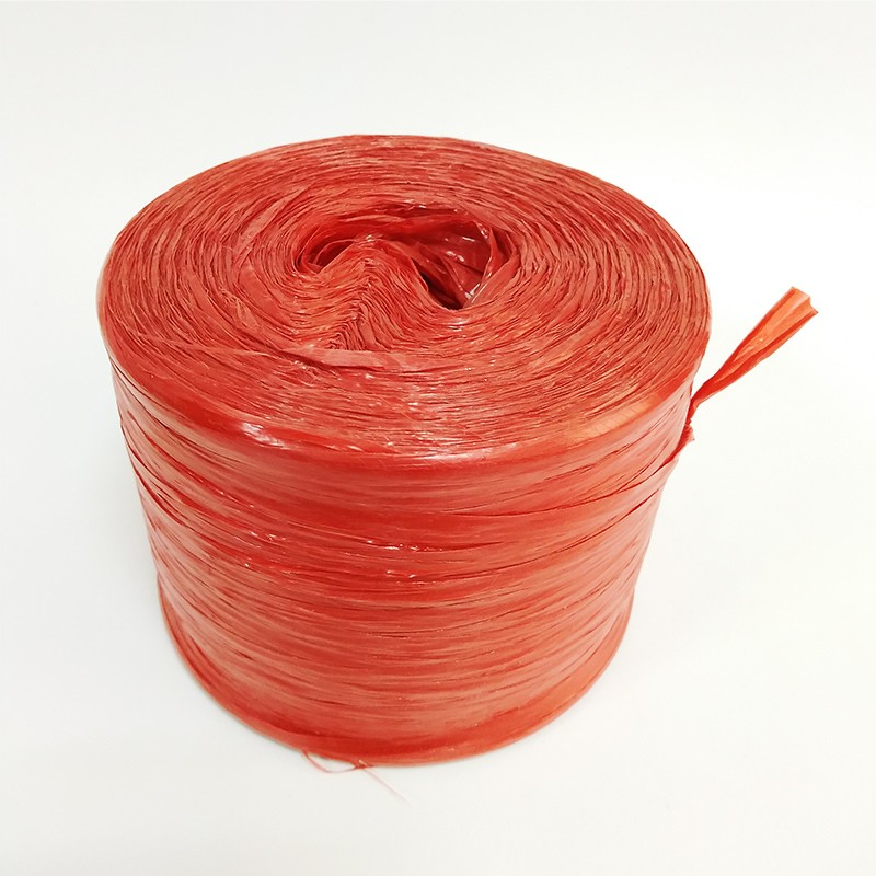 PP film Plastic packing Rope/ flat film raffia string rope/plastic straw rope