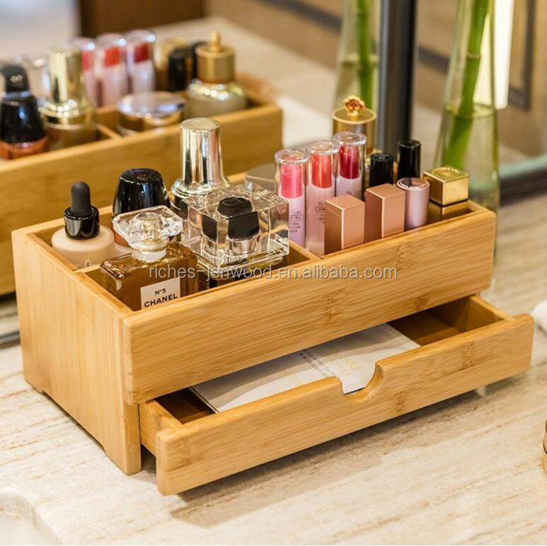 Mini Desk Makeup Organizer With Drawers