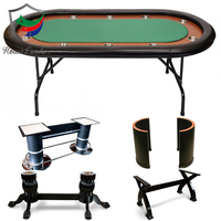 Professional High Quality 10 Player Luxury Custom Wholesale Used Cheap Foldable Texas Hold'em Wooden Casino Poker Table for Sale