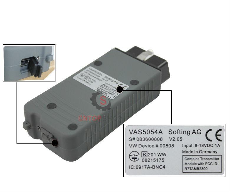 Фабрики сразу цена VAS 5054A диагностический сканер VAS 5054 ODIS V2.2.4 поддержка VAS протокол автомобили сканер VAS 5054A Bluetooth код читателя