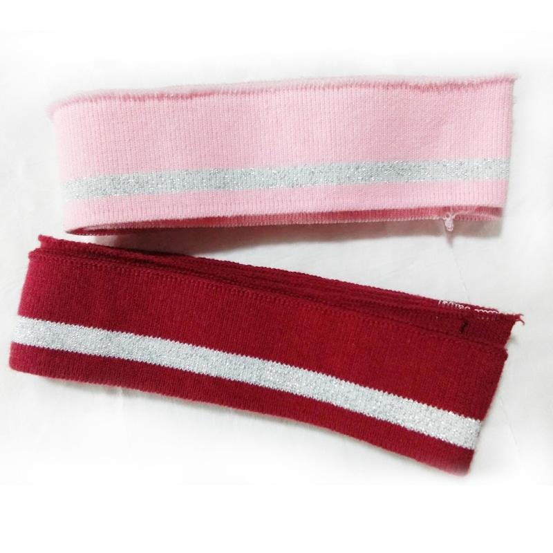 Elastic Clothing material Strip Cotton knit T-shirt Rib Cuff Collar Fabric