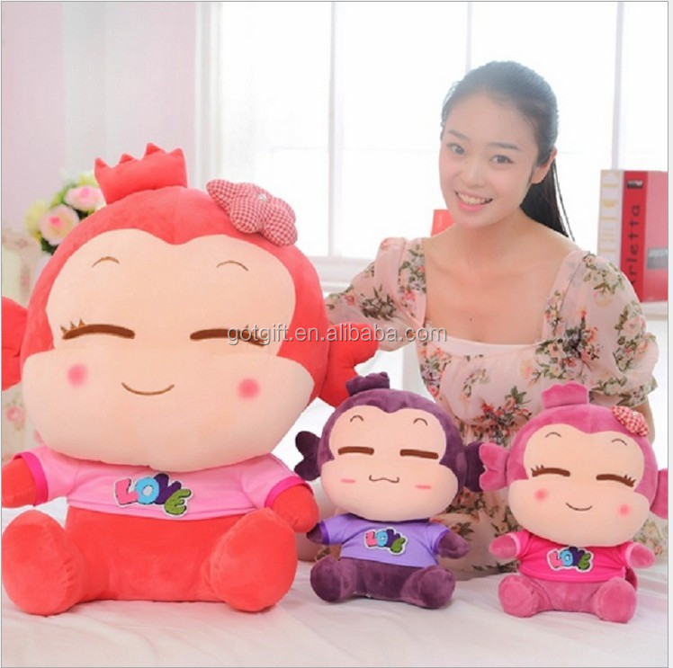 Manufacturers Selling New Xi Monkey Doll Custom Plush Toys Lovers Stuff Animals Doll For Creative Wedding