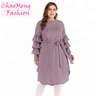 2117# Abaya chiffonkimono dubai kaftan women long beading tutu sleeve muslim hijab dress Turkish Islamic fashion clothing