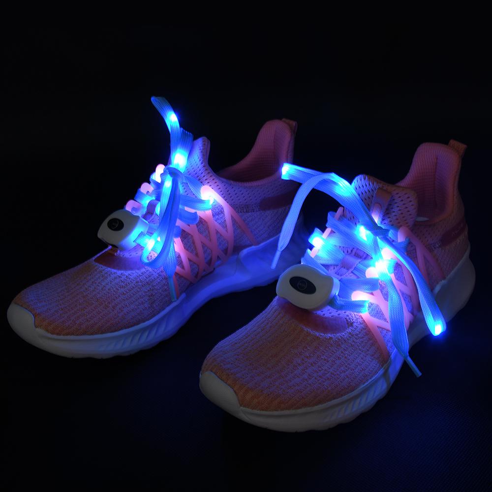 중국 공장 직접 공급 끈 다채로운 LED 충전식 led 신발 끈